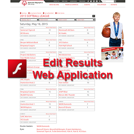 Edit Results Web Application